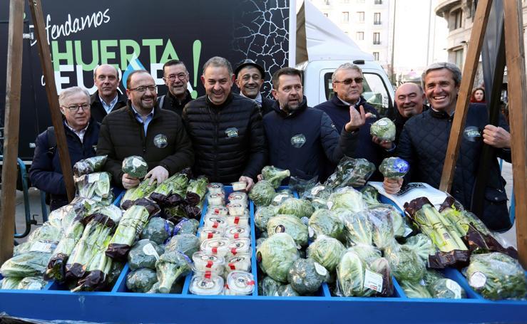 Las fotos de la histórica manifestación de agricultores en Madrid