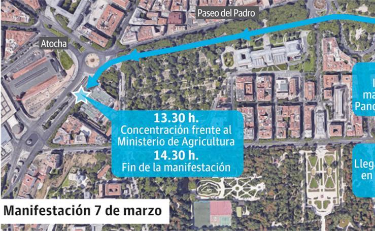 Recorrido de la maniestación en Madrid