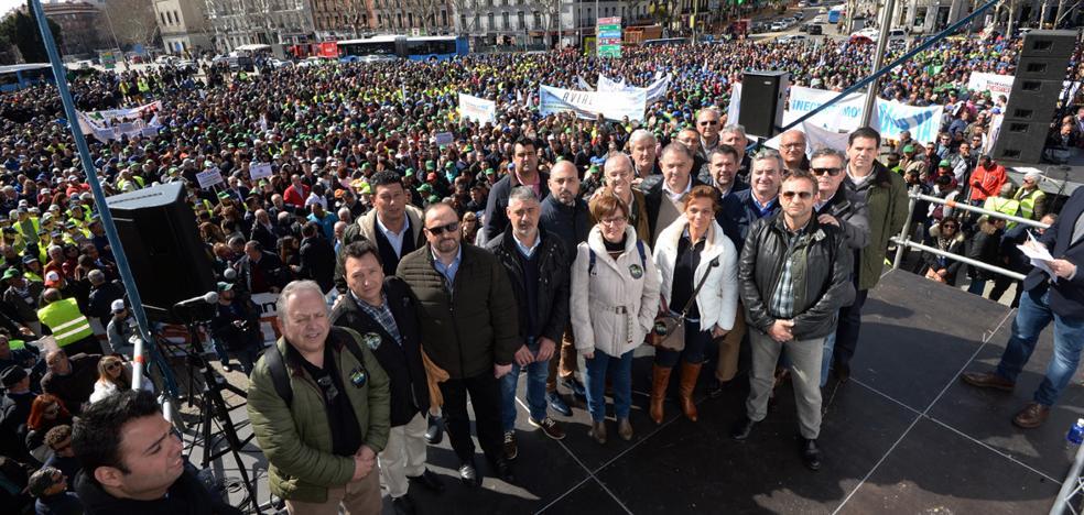 Los regantes se hacen oír en Madrid
