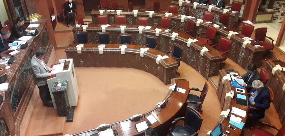 Diputadas de Podemos hacen huelga en la Asamblea, el PSOE secunda el paro y de PP y Cs acuden todos