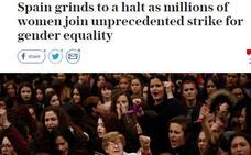 La prensa internacional se hace eco de la huelga feminista «histórica» y «sin precedentes»