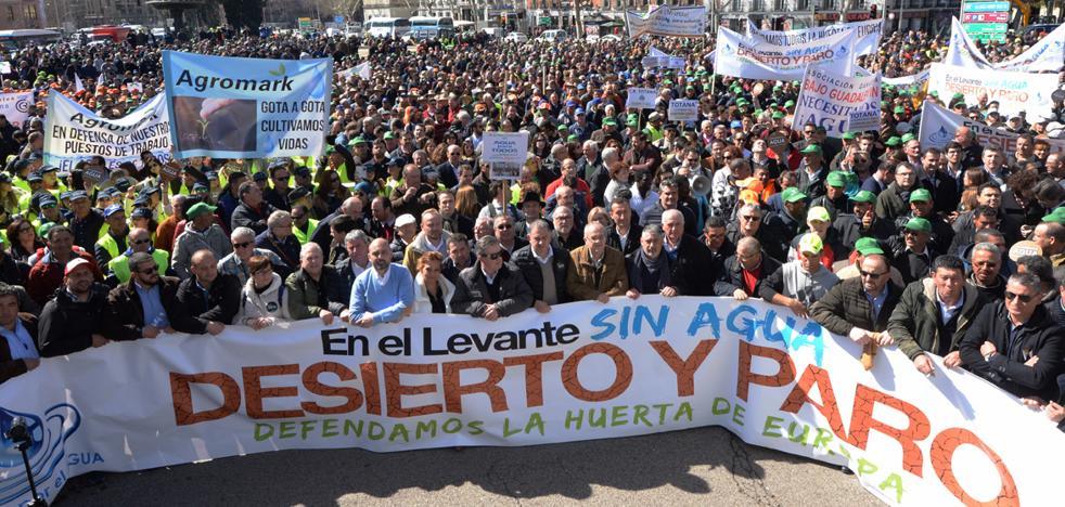 Los regantes preparan más medidas de presión tras el aldabonazo de Madrid