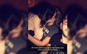 La reacción viral de un joven al ver a su novia besando a otro