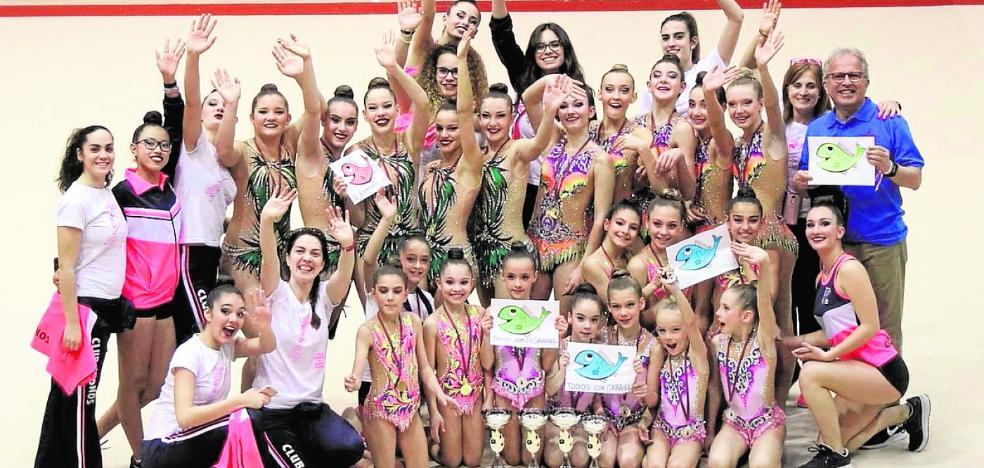 El Cronos colecciona medallas en el Regional de rítmica