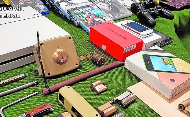 Seis arrestados en Jumilla por el saqueo de 31 viviendas y comercios