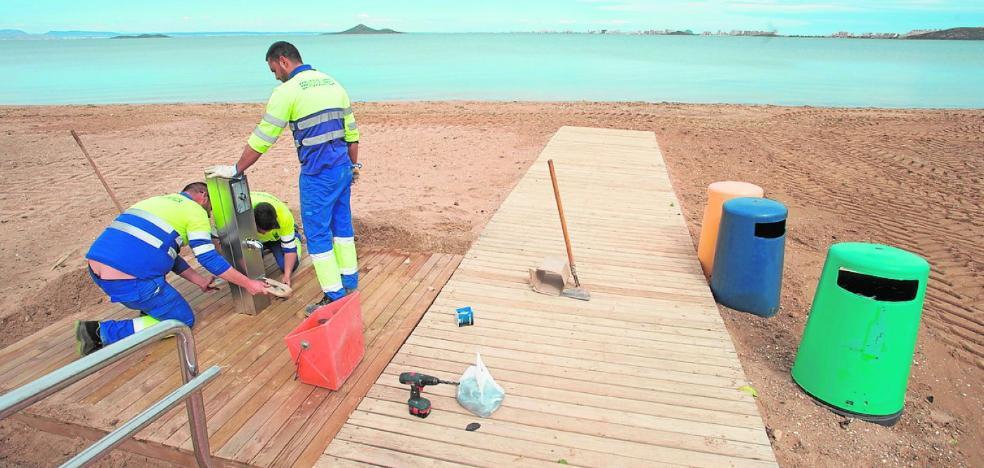 Intensifican los trabajos para poner a punto las playas en vacaciones