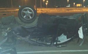 Herido leve en un aparatoso accidente en Torre Pacheco