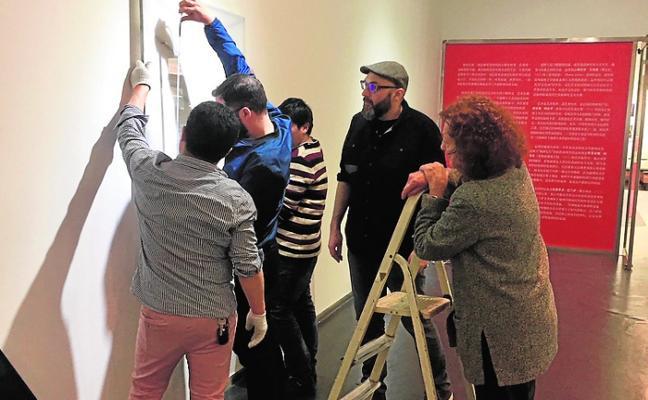 Seis artistas murcianos inauguran hoy en Pekín la muestra 'Tiempo material'