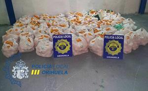 Detienen a siete vecinos de Murcia por sustraer 1.200 kilos de naranjas en Orihuela
