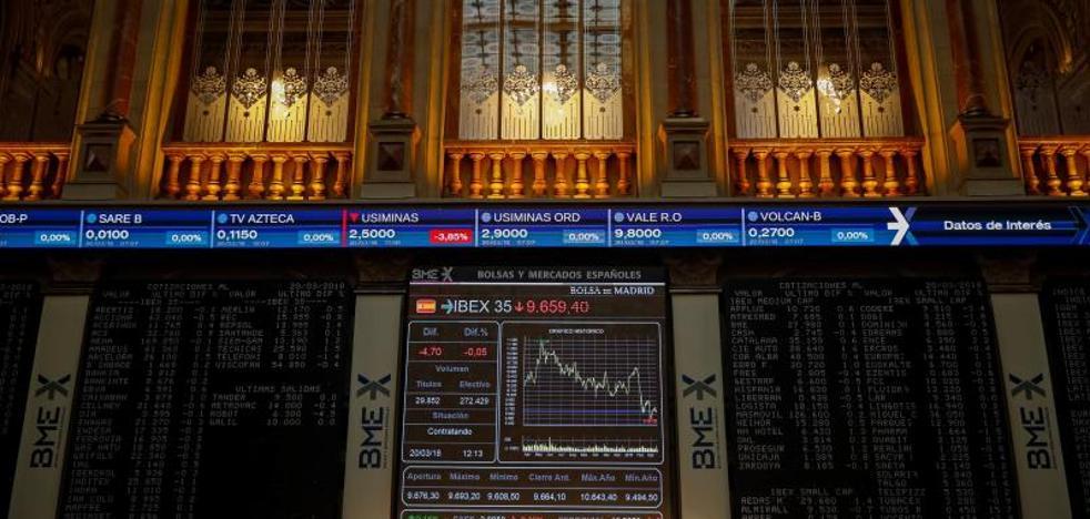 El Ibex-35 cierra al alza, pero lejos de los 9.700 puntos