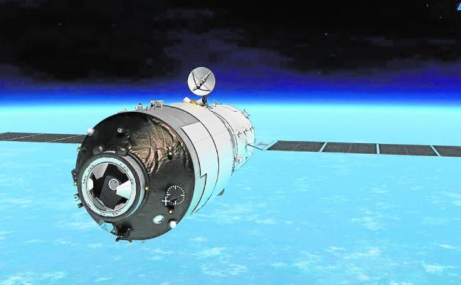 La estación espacial china abandonada que podría impactar en España