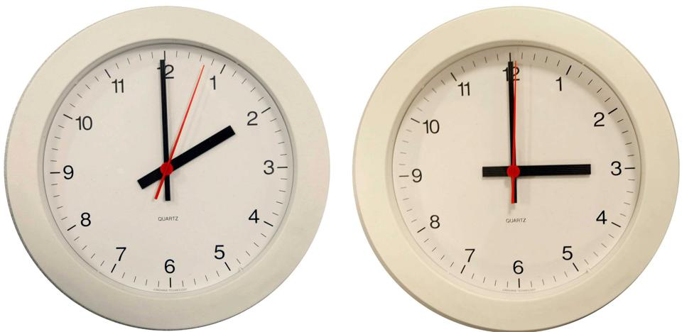 La madrugada del domingo a las 2:00 serán las 3:00 y comenzará el horario de verano