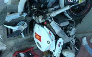 Herido grave un motorista al sufrir un accidente en la carretera de Torreagüera