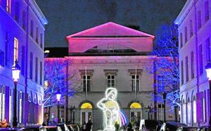 Una instalación lumínica murciana conquista Bruselas