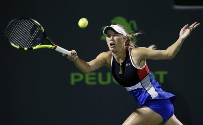 Wozniacki denuncia amenazas del público en el torneo de Miami