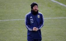 Messi se entrena en Valdebebas