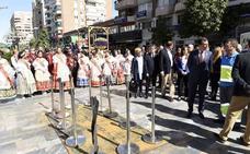 Estupor general por la destrucción de la escultura floral de Campillo