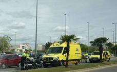 Una motorista resulta herida tras un accidente en la avenida Principe de Asturias de Murcia