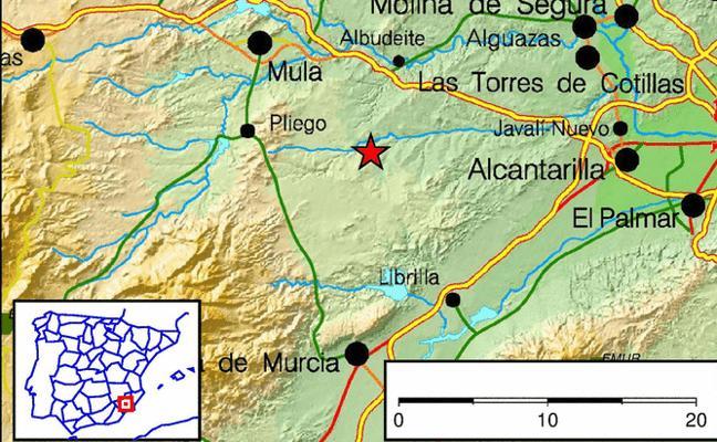 La comarca del Río Mula registra un terremoto de casi 4 grados