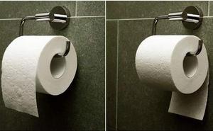 Esta es la forma correcta de colocar el papel higiénico