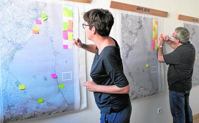 Un colectivo multidisciplinar de la UMU diseña mapas para revelar los problemas del Mar Menor