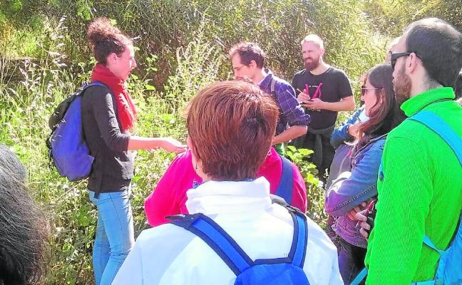Taller sobre plantas silvestres comestibles, impartido por el profesor Víctor Manual Zapata