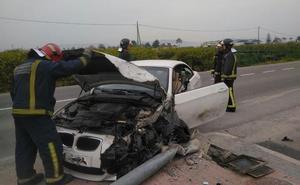 Herido un hombre de 60 años en un accidente de tráfico en Santomera