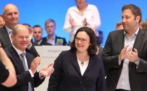 Andrea Nahles, primera presidenta de la historia del Partido Socialdemócrata alemán