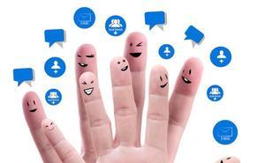 Con buen tiempo, los mensajes en las redes sociales son más alegres