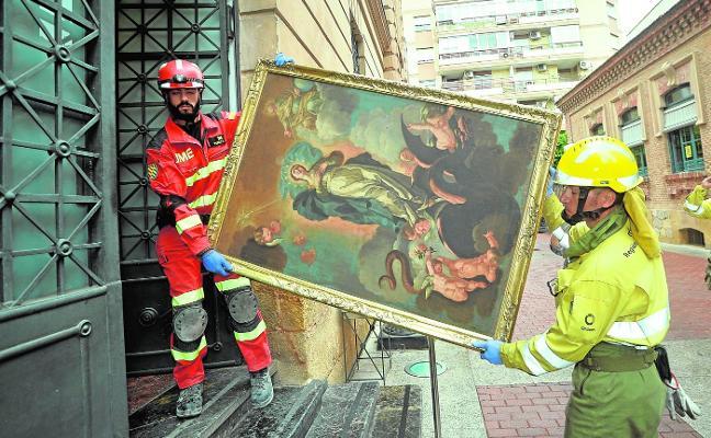 Las obras de arte, también a salvo
