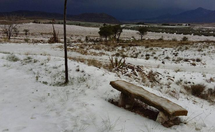 Nieve y granizo en Lorca