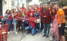 Los aficionados del UCAM disfrutaron de una cita histórica en Atenas