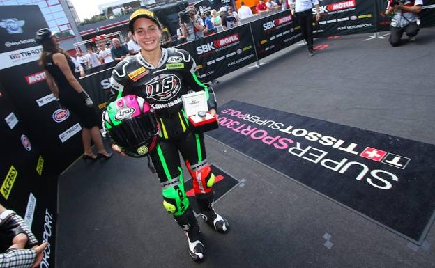 Carrasco, tras lograr la 'pole'./WorldSBK