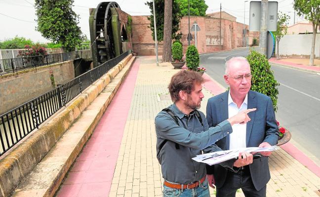 Arranca la recuperación del entorno histórico de la rueda de La Ñora