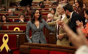Arrimadas a Torra: «Usted representa el pasado con su nacionalismo excluyente»
