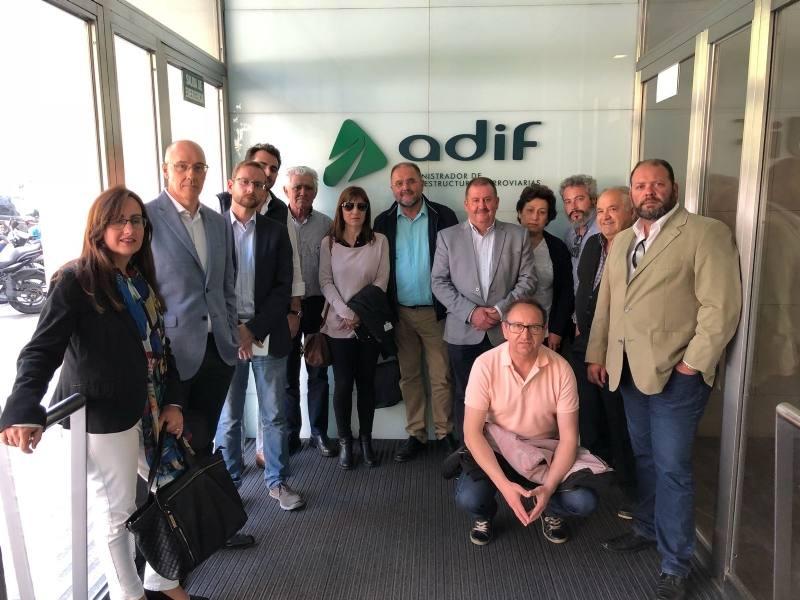 Adif expone las prestaciones del nuevo trazado del Corredor Mediterráneo en Totana