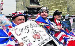 El júbilo por la boda ya se hace visible en Inglaterra