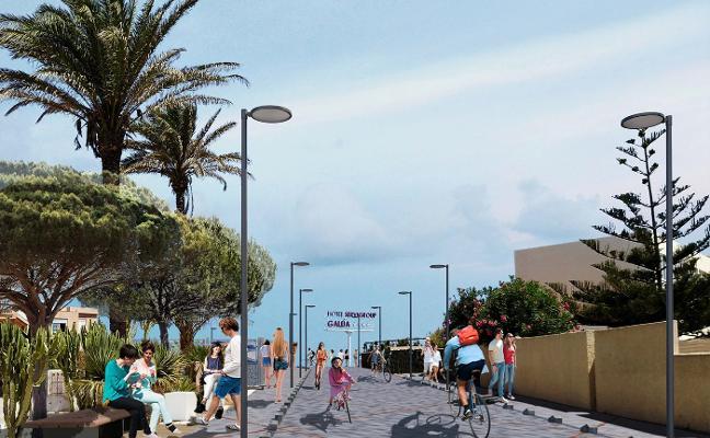 La Manga tendrá una senda con acceso al mar y dos miradores en el entorno del Hotel Galúa