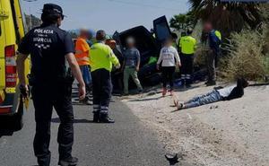 Heridos 12 ocupantes de dos furgonetas accidentadas en Lorca y Cabezo de Torres