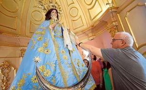 Asaltan la parroquia de Churra y roban las joyas de la Virgen de la Encarnación