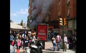 Se incendia una cafetería en Molina de Segura