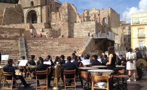 La Unión Musical de Torre Pacheco abrió la Noche de los Museos de Cartagena en el Teatro Romano