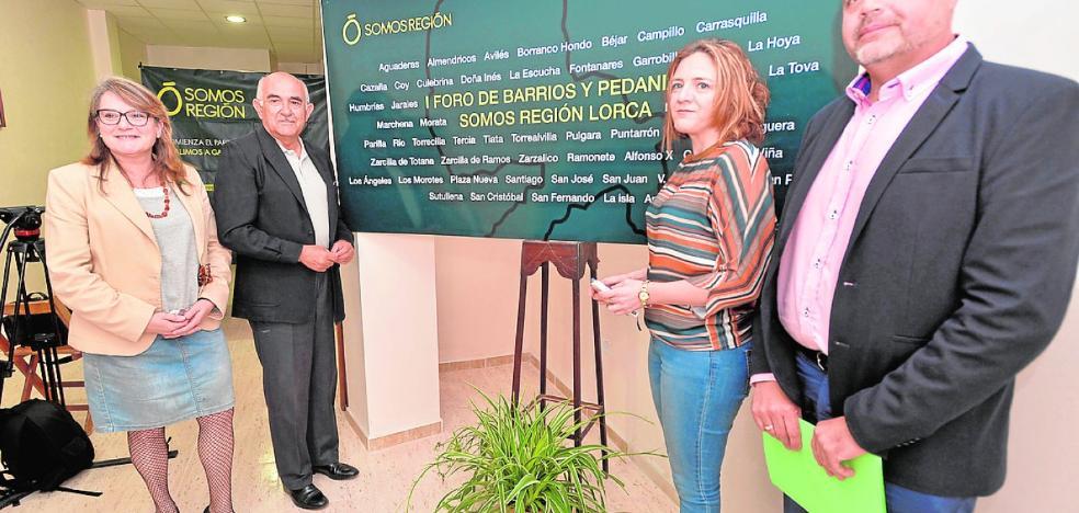 Somos Región nutrirá su programa con aportaciones de las pedanías