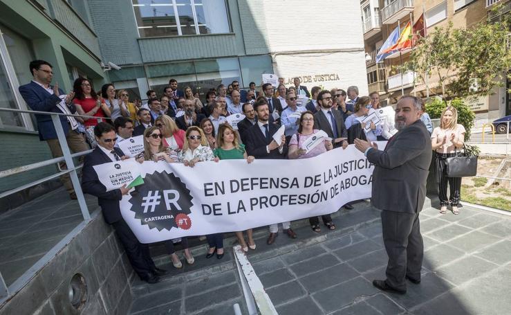 Huelga de Justicia en Cartagena