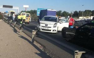 Nueve heridos en dos accidentes en la A-30, a la altura de Molina de Segura