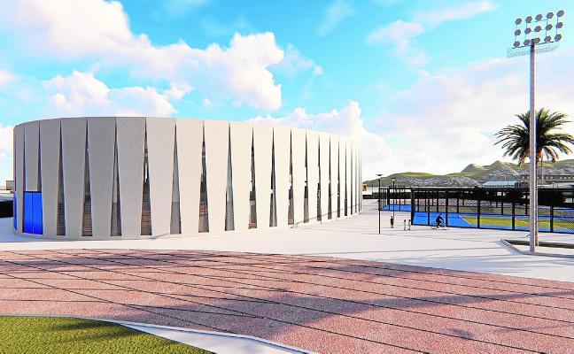 La construcción del nuevo pabellón en el Almarjal se ejecutará en dos fases