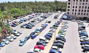 Las carretillas, al 'parking' del Filet de Fora