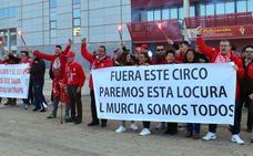 Los aficionados del Real Murcia se manifestarán este sábado en Nueva Condomina