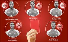 Las tarjetas rojas ahogan al Murcia