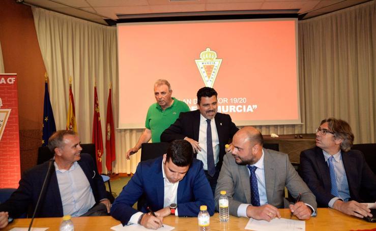 Presentación del plan estratégico del Real Murcia para la temporada 2019-20